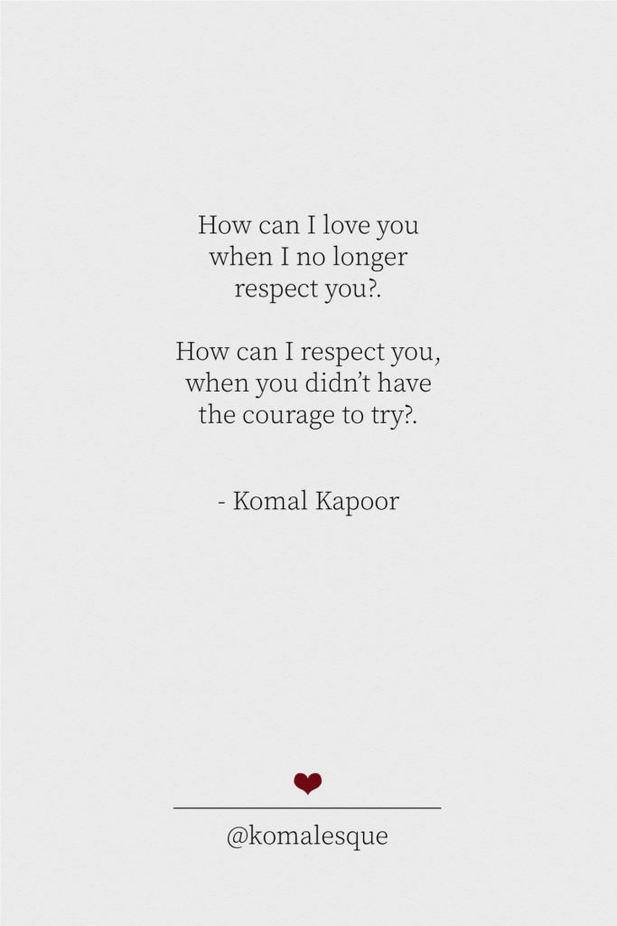 Quotes About One-Sided Love - Komal Kapoor